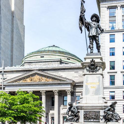 Guía Montreal, Monumento a Maisonneuve