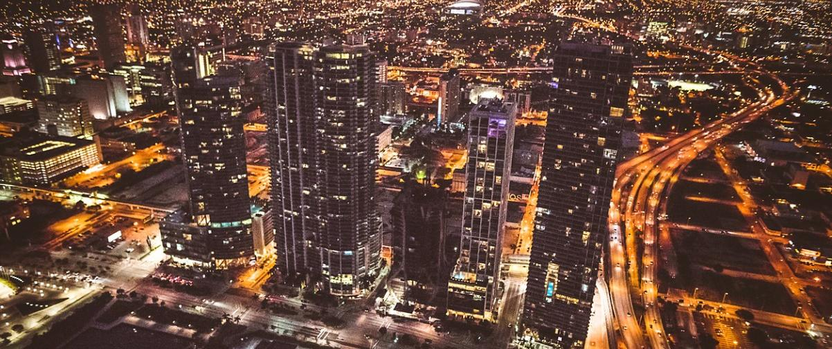 Guía Miami, Vista aérea nocturna de Miami