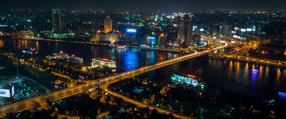 Guía El Cairo, Vista nocturna