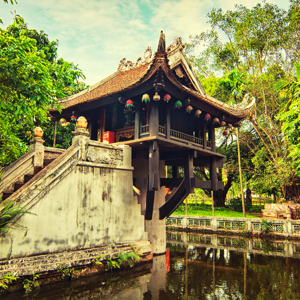 Guía Hanoi, Pagoda pilar único