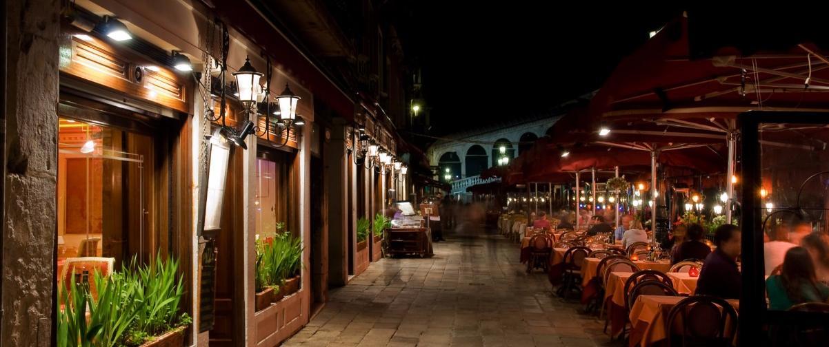 Guía Venecia, Restaurante de noche