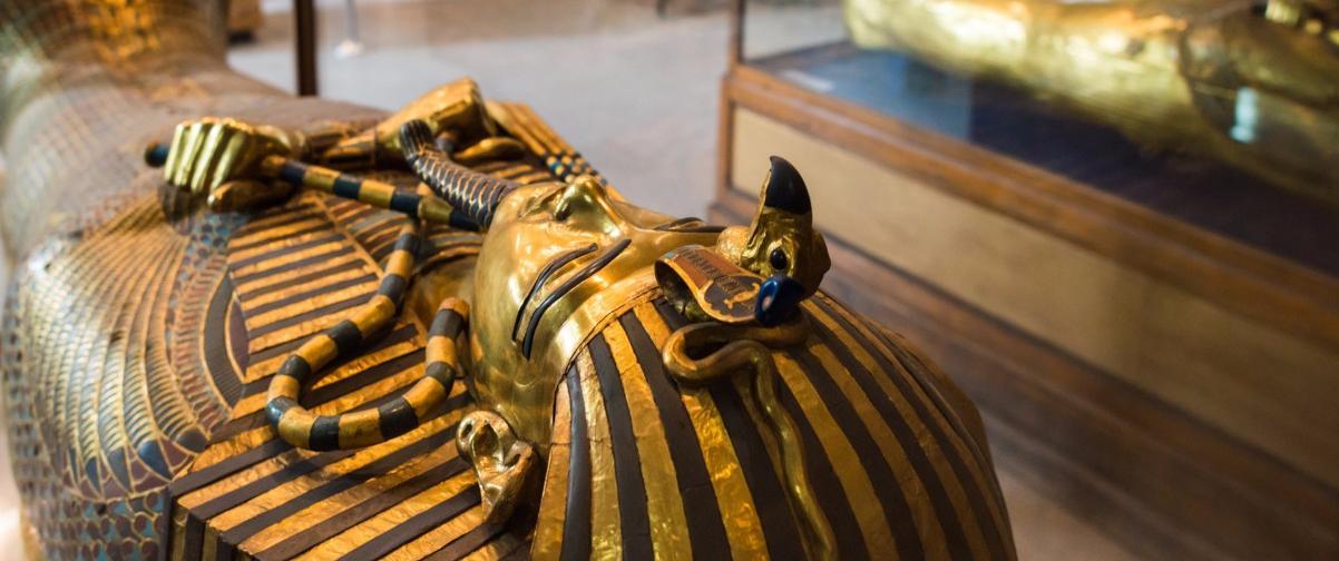 Guía El Cairo, Sarcófago de Tutankamon