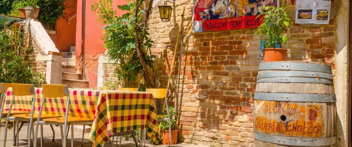 Guía Venecia, Terraza restaurante