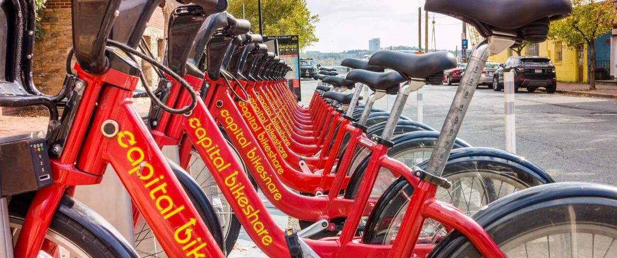 Guía Washington, Estación alquiler de bicicletas