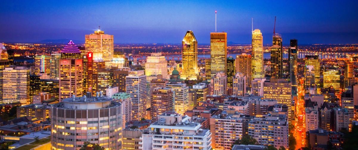 Guía Montreal, Vista nocturna