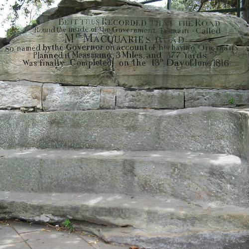Guía Sídney, Mrs Macquarie Chair
