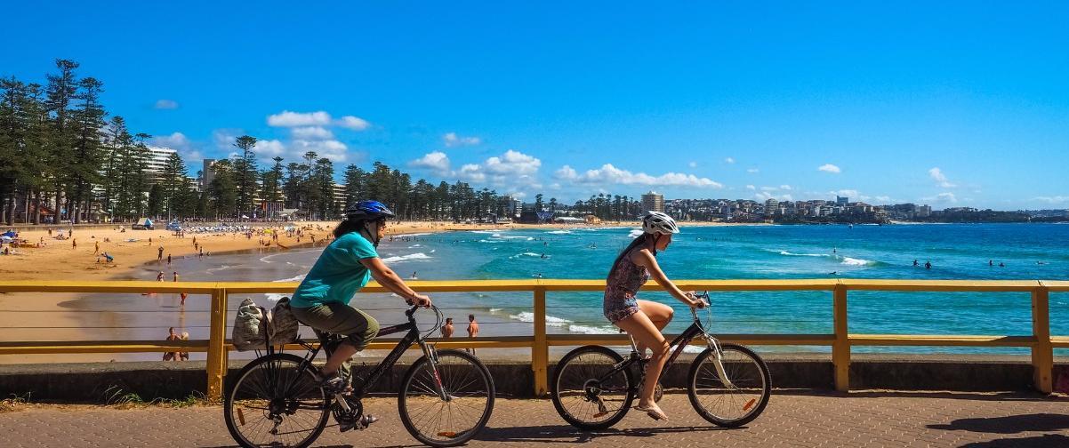 Guía Sídney, Personas montando en bicicleta