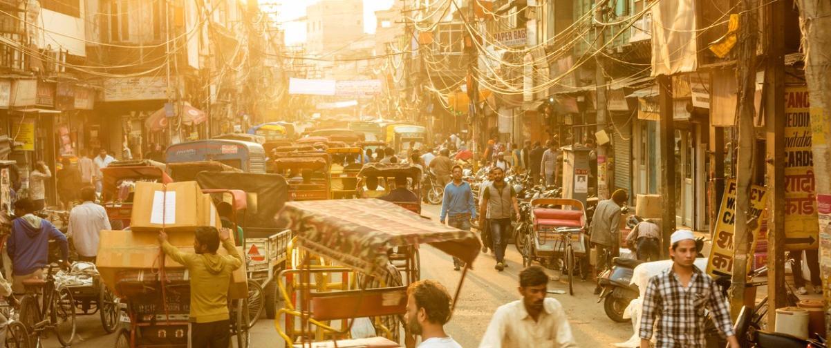 Guía Nueva Delhi, Calle transitada Nueva Delhi