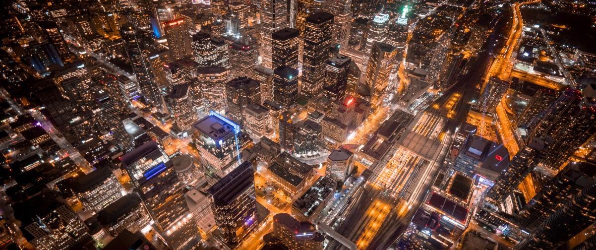 Guía Toronto, Vista nocturna de Toronto