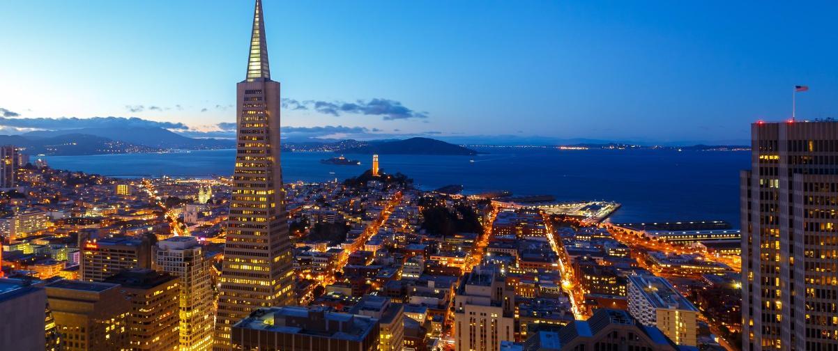 Guía San Francisco, Vista de noche