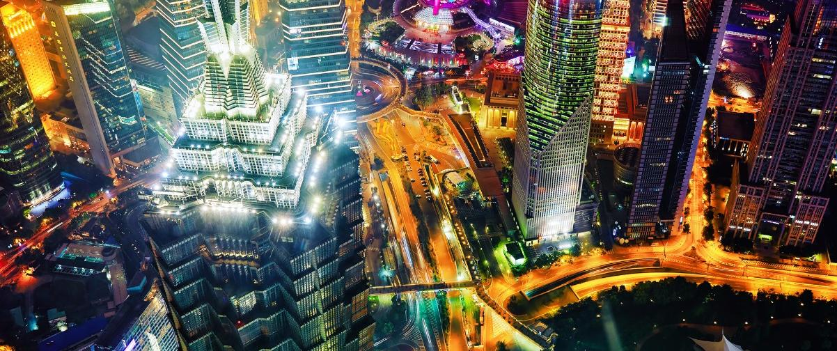 Guía Shanghai, Vista nocturna Pudong