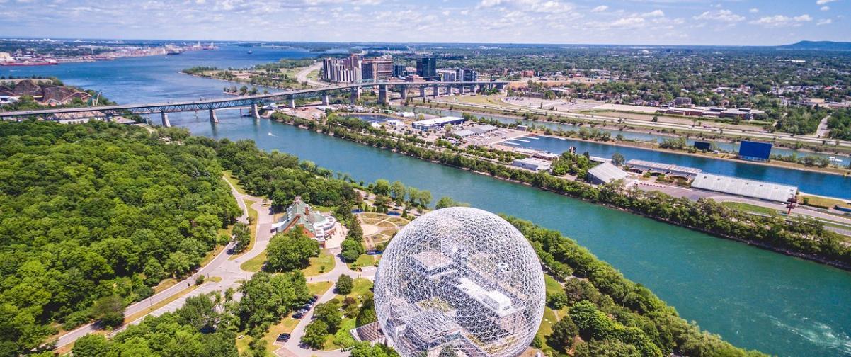 Guía Montreal, Vista aérea de Montreal