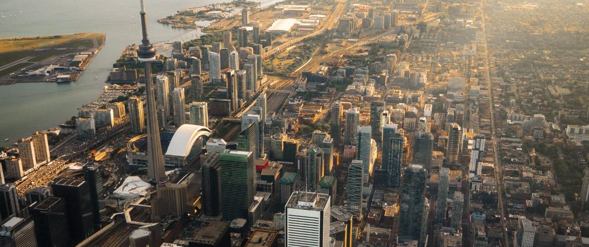 Guía Toronto, Vista aérea de Toronto