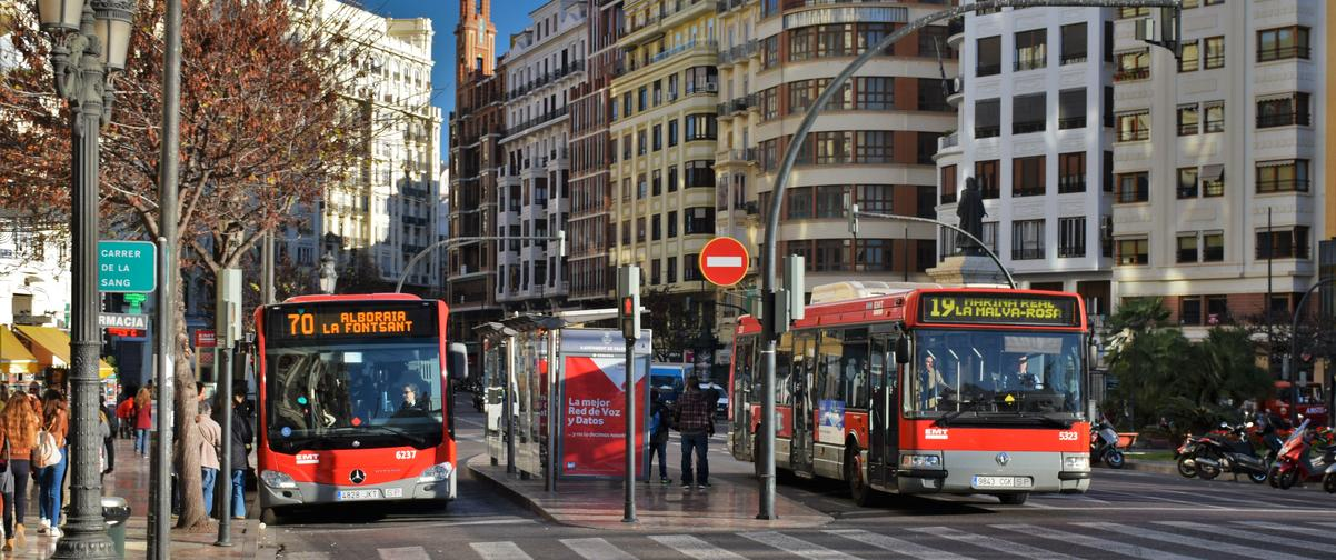 Guía Valencia, Autobuses urbanos