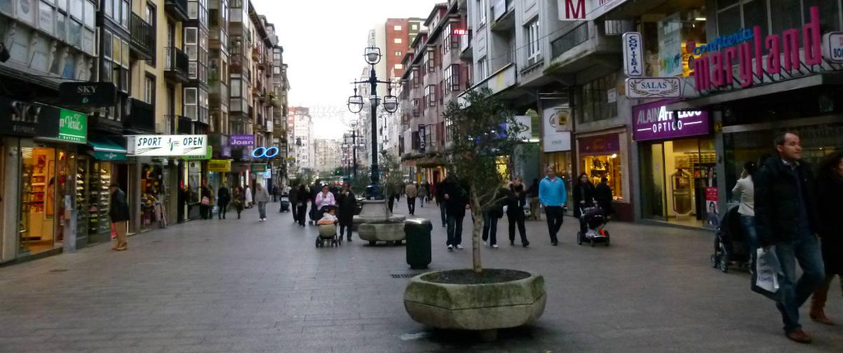 Guía Santander, Compras en el centro urbano