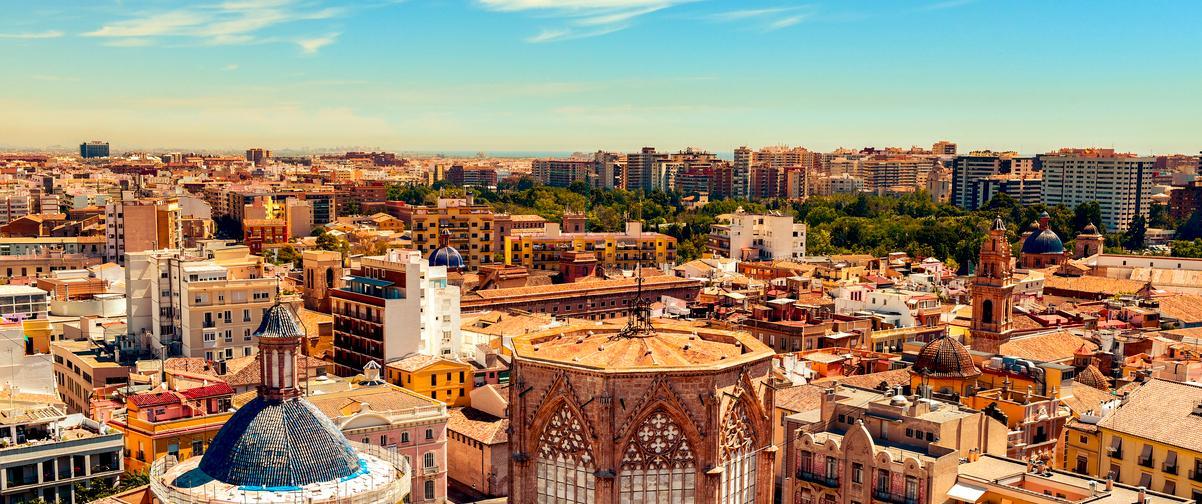Guía Valencia, Vista aérea zona de compras