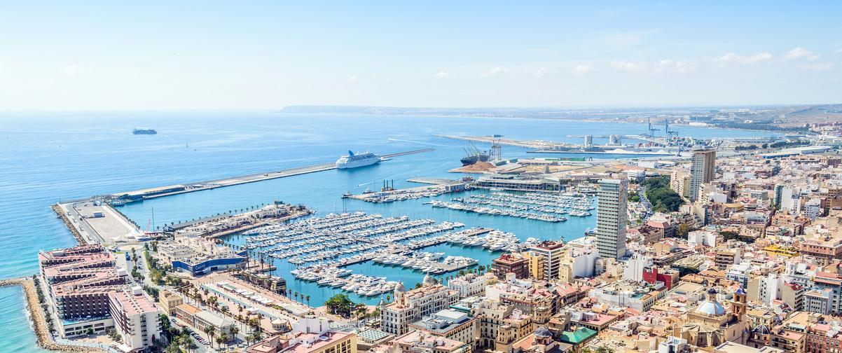 Guía Alicante, Vista aérea de la ciudad