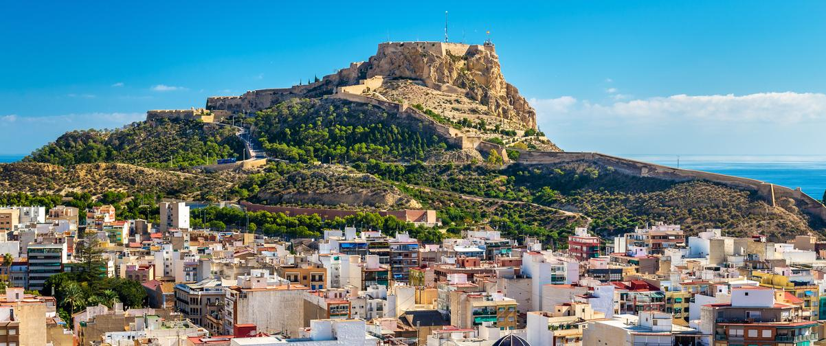 Guía Alicante, Vista Castillo de Santa Bárbara