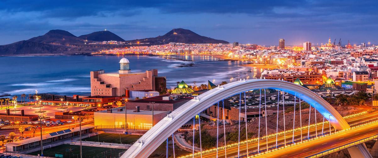 Guía Gran Canaria, Panorámica nocturna