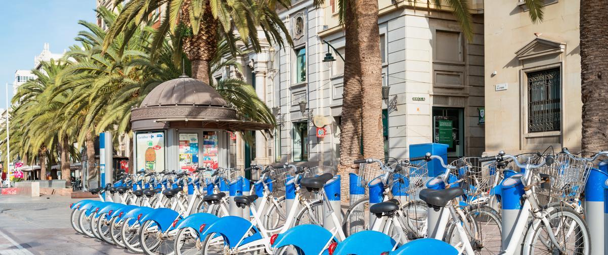 Guía Málaga, Alquiler de bicicletas