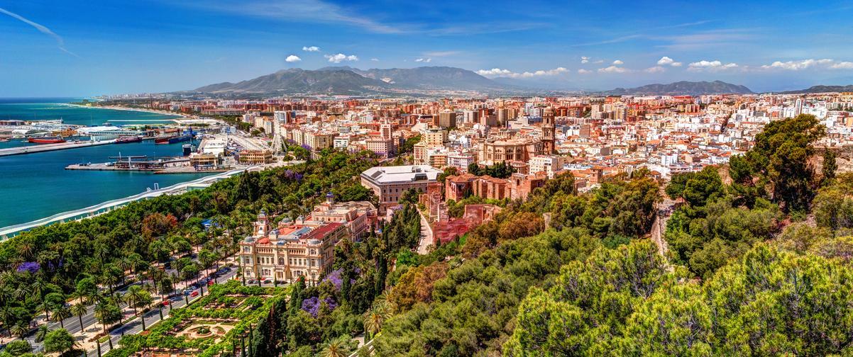 Guía Málaga, Panorámica de la ciudad