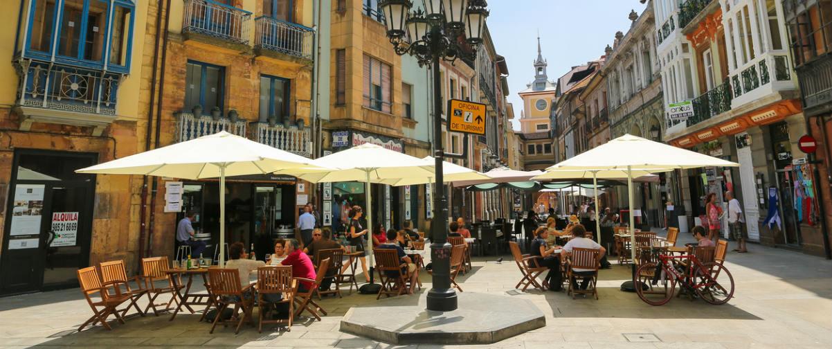 Guía Oviedo, Gente en terrazas