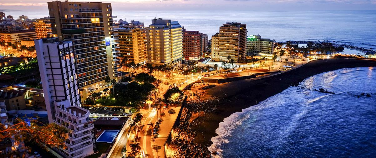 Guía Tenerife, Vista nocturna de Tenerife
