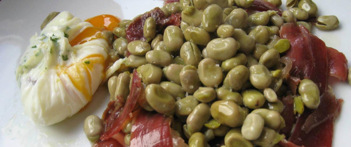 Guía Granada, Habas con jamón