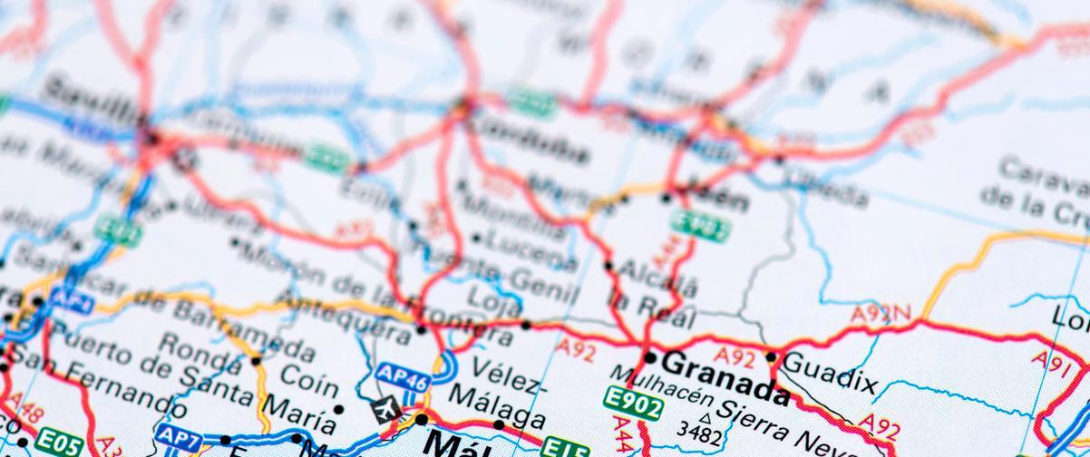 Guía Granada, Mapa